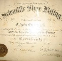 Image of Shoe Fitting certificate
