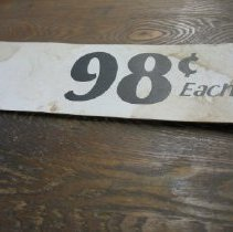 Image of Sign - 98 cents