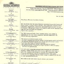 Image of KMA Grant Letter