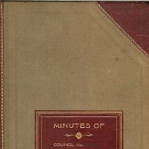 Image of 1925 Minutes Book
