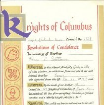 Image of Certificate, Commemorative - Resolutions of Condolence
