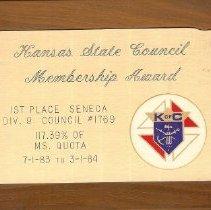Image of KOC Kansas State Membership Aw