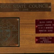 Image of Plaque for recognition of bloo