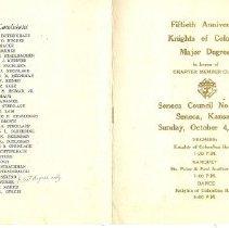Image of Program Booklet Oct 1964