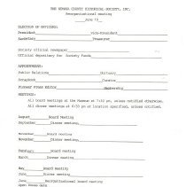 Image of NCHS Reorganization Forms