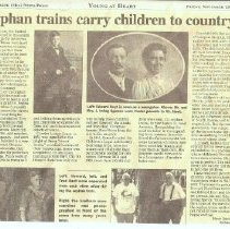 Image of Orphan Ttrains carry children