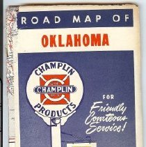 Image of Oklahoma Road map 1950's