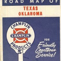 Image of Texas-Oklahoma Road Map