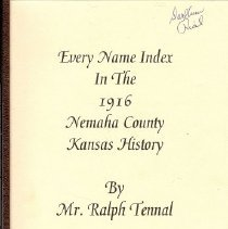 Image of Book - Every Name Index In the 1916 Nemaha County Kansas History