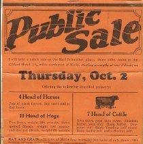 Image of Zettle Public Sale 1929