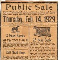 Image of 1929 Zettle public sale poster