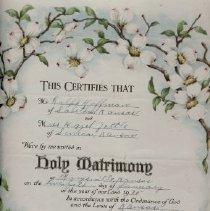 Image of License - Ralph Hoffman - Hazel Hoffman Marriage License