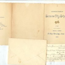 Image of Booklet - Seneca City School Commencement 1896