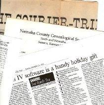 Image of Newspaper - Genealogy Society