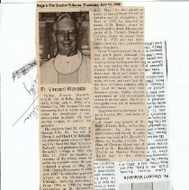 Image of Obit of Fr. Vincent Wavada O.S