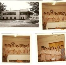 Image of Postcard - Photos of Seneca Hospital and Candy Stripers
