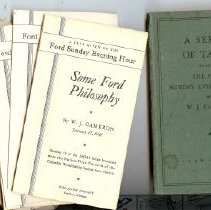 Image of Booklet - Documents: A Series of Talks given on the Ford Sunday Evening Hour by W. J. Cameron: 1936-1937: