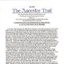 Image of Manuscript - The Ancestor Trail, Baileyville and St. Benedict cemeteries