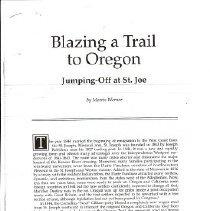 Image of Manuscript - Blazing a Trail to Oregon
