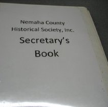 Image of Notebook - NCHS Secretary's book
