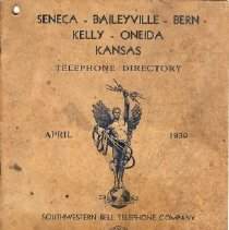 Image of Directory, Telephone - Southwestern Bell Telephone Directory 1939