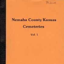 Image of Book - Nemaha County kansas Cemeteries Vol. 1