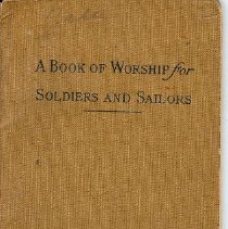 Image of Booklet - Book of Worship, Soldiers and Sailors