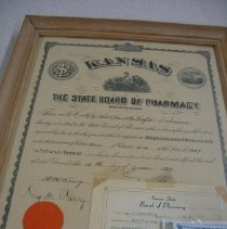 Image of Certificate, Achievement - Cerifiate of Registered Pharmacist, Edward Taylor