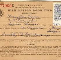 Image of Book, Ration - Ration Book