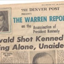 Image of Newspaper - The Warren Report; The Denver Post, 1964