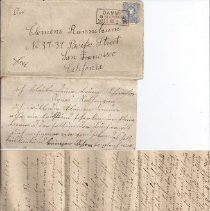 Image of Letter - German letters to Clement Runnebaums