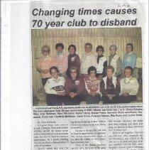 Image of Newspaper - Q. A. F. Club disbands