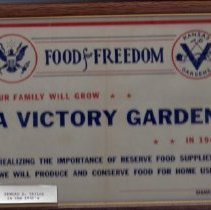 Image of Certificate, Commemorative - A Victory Garden in 1942
