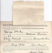 Image of Marriage Affidavit