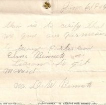 Image of Marriage note