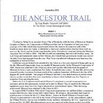 Image of Document - The Ancestor Trail
