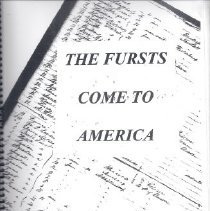 Image of Book - The Fursts Come to America
