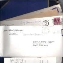 Image of Documents - Masonic correspondence and booklets and Treasurer's report