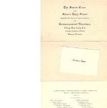 Image of Announcement, Graduation - Senior Class of SHS, 1915