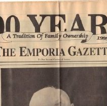 Image of Newspaper - The Emporia Gazette, June 1, 1995