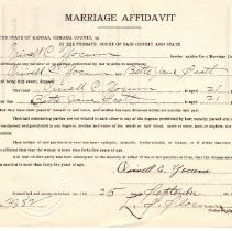 Image of Application, License - 1943 Marriave Affidavits Box #5 (127)