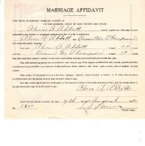 Image of Application, License - 1944 Marriage Affidavits (175) Box #5