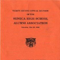 Image of Program - Thirty-Second Annual Reunion of the SHS Alumni Association