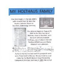 Image of Documents - My Holthaus Family