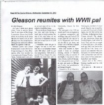 Image of Newspaper - Gleason reunites with WWII pal