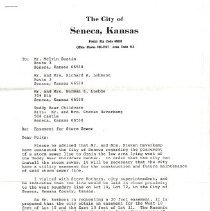 Image of Documents - Copy of agreement between Masonic Temple and City of Seneca