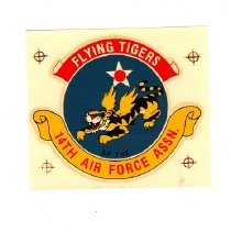 Image of Decal - Decal of Flying Tigers, 14th Air Force Assn.
