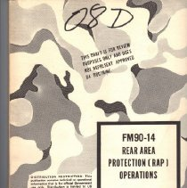 Image of Book, Instruction - Rear Area Operations