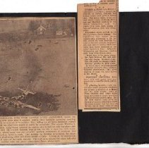 Image of Print, Photographic - Airplane wreck photos, 1952