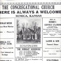 Image of Poster - Poster, church, sponsored by businesses